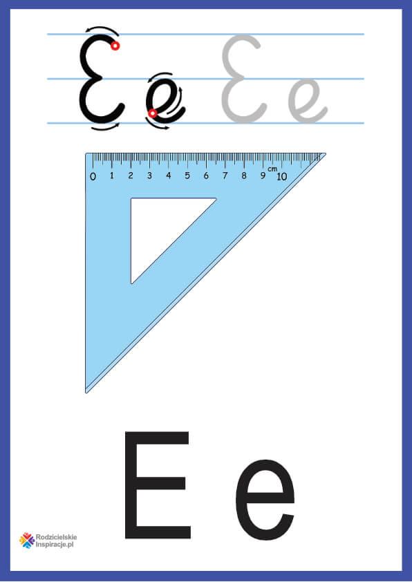 litera e pokazowe do druku