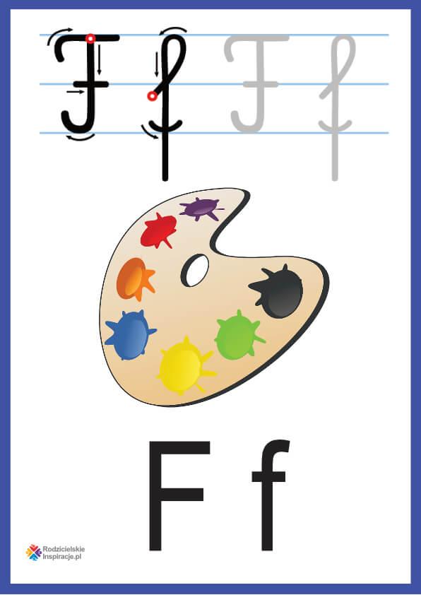 litera f pokazowe do druku