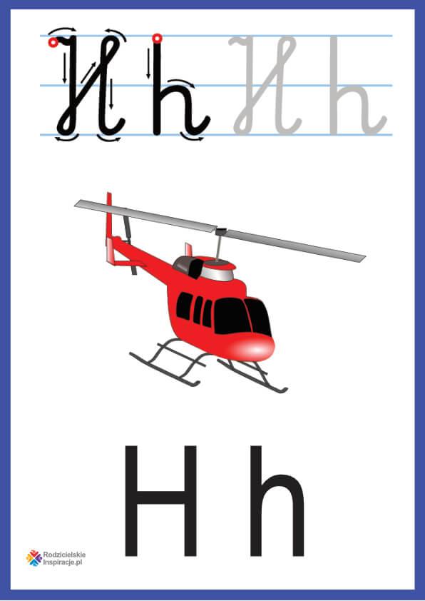 litera h pokazowe do druku
