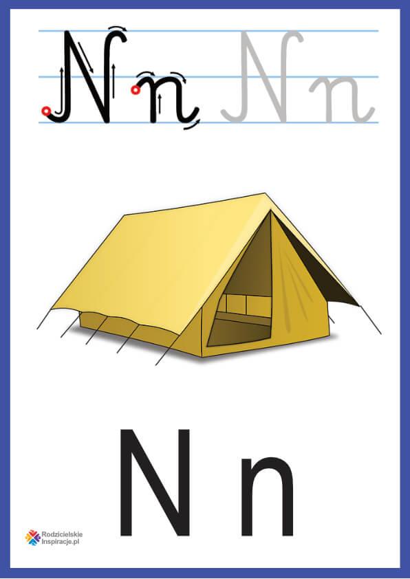 litera n pokazowe do druku