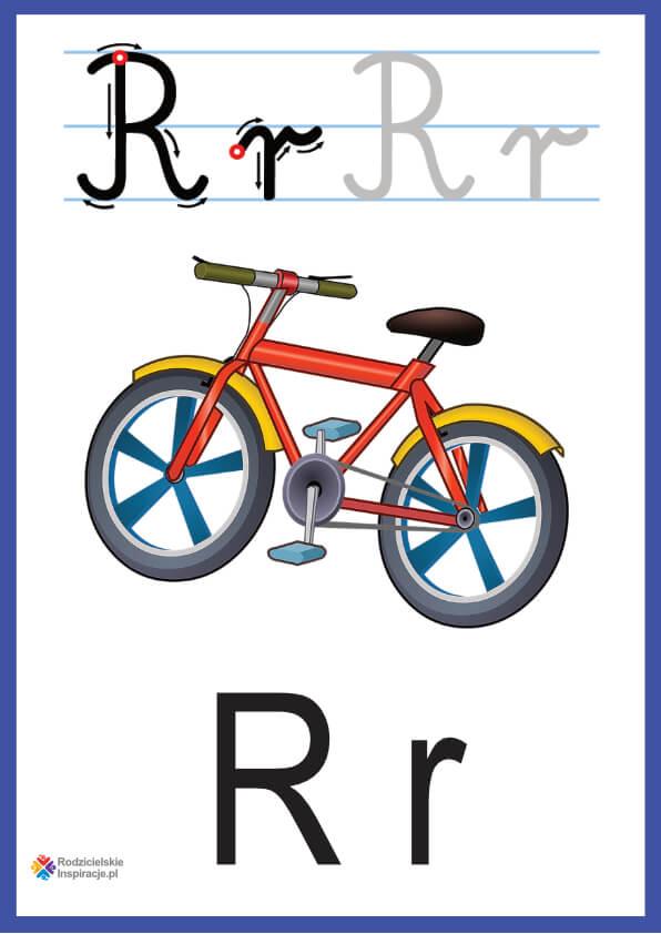 litera r pokazowe do druku