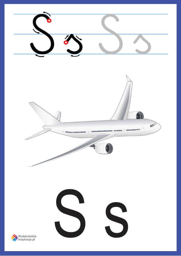 litera s pokazowe do druku