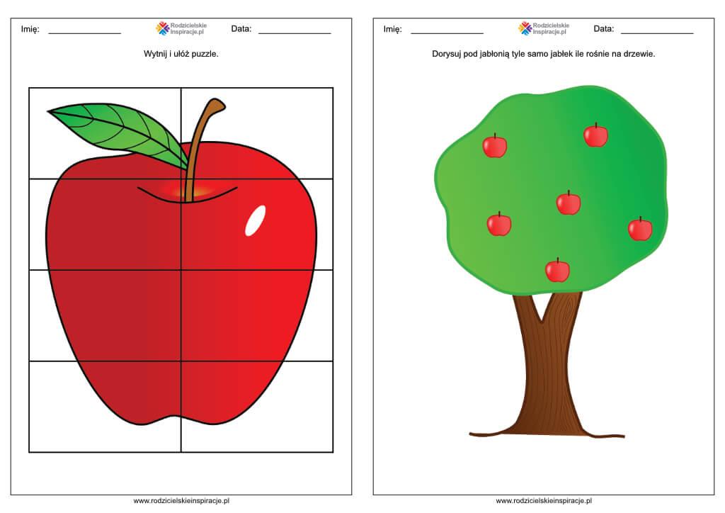dzien jablka karty pracy do druku