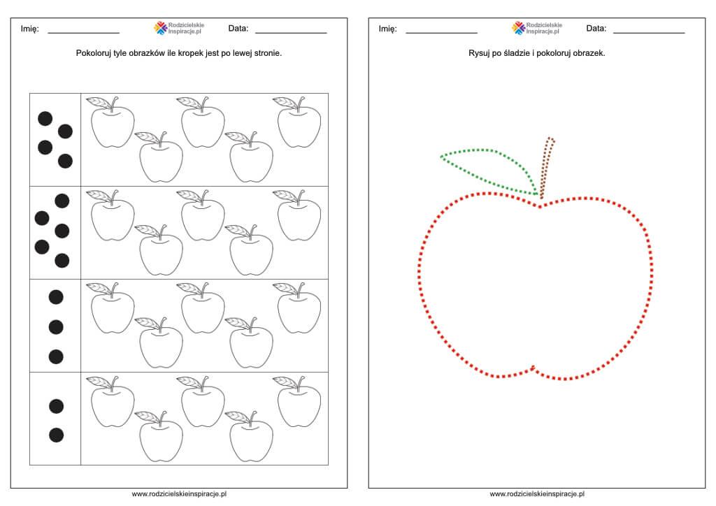 dzien jablka karty pracy przedszkolakow