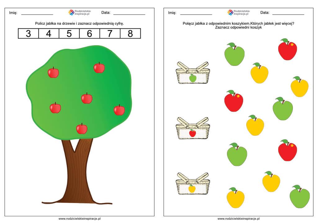 karty pracy dzien jablka