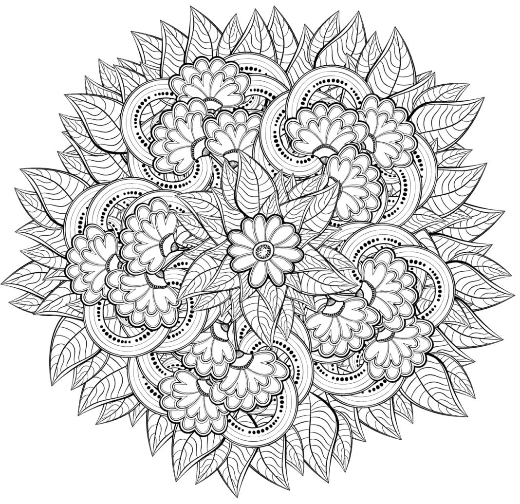 mandale kolorowanka kwiaty